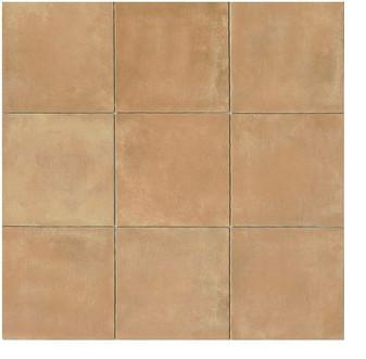Cotto Europa:Terra Cotta 14x14 Gloss Finish Cotto Field Tile  Beige