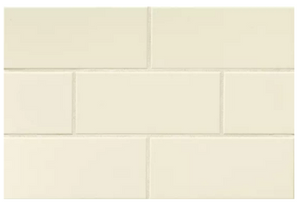 """Color Collection: Biscuit Gloss/Matte 4""""x10"""" Subway Tile"""