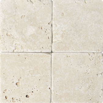 Ivory Travertine Tumbled 6x6