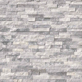 Crystal Graystone Splitface Ledgerstone Panels 6x24