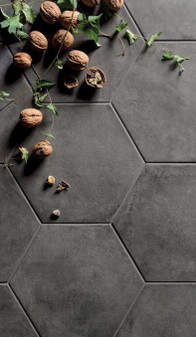 "Black Fox Porcelain 8"" Hexagon Matte Tile $19.99 Sq. Ft. Suggested Retail"