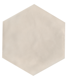 "Manzanita Biscuit Gloss 7""x8"" Hexagon Ceramic Wall Tile"