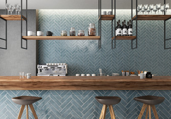 Manzanita Blue Steel Crackle 3x12 Wall Tile
