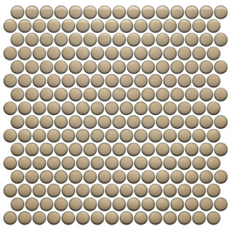 Sand Bright  12×12 Penny Round Mosaic