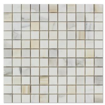 Calacatta Gold 1x1 Square Mosaic