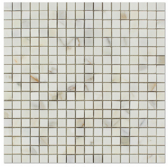 "Calacatta Gold Honed 5/8""x5/8"" Square Mosaic"