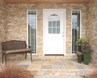 Keystone Desert Gold Ledgerstone Panels and Outside Corners Available (Installed Photo)