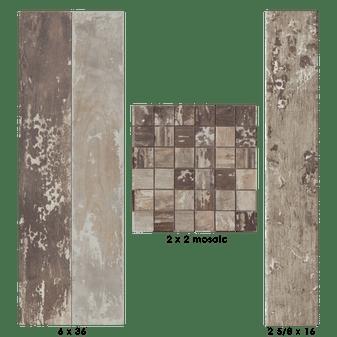 Kentucky American Elm 2x16 Field ,3x36 Bullnose, 6x36 Field Tiles