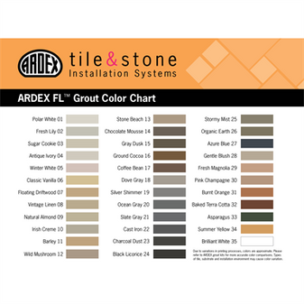 Ardex Grout Colors