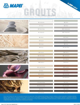 Mapei Grout Colors
