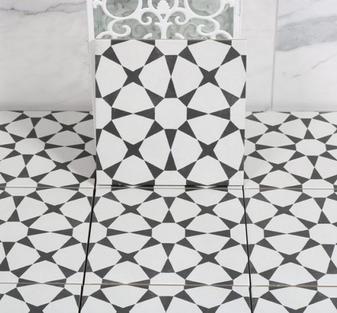 Cuban White Star 9x9 Tile