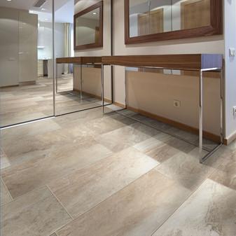 ESSENCE Porcelain Tile Collection: ESSENCE Pearl 13x13, 12x24, 18x18, 3x18 Bullnose Tiles