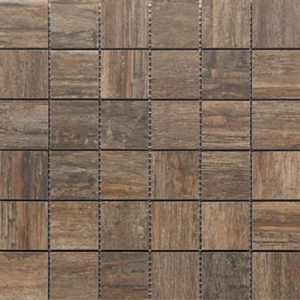 SEA WOOD BROWN MOSAIC 2x2