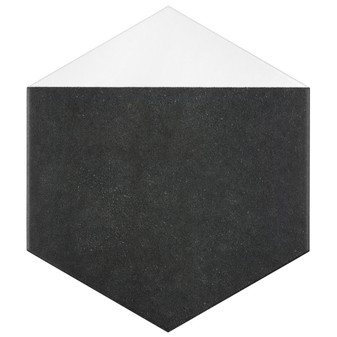 "Solstice Edge White Hexagon Tile 8""x9"" Hexagon Tile"