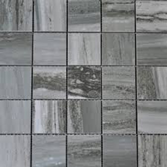 "Flow Ocean 2x2 Square Tile Mosaics on 12""x12"" Mesh"