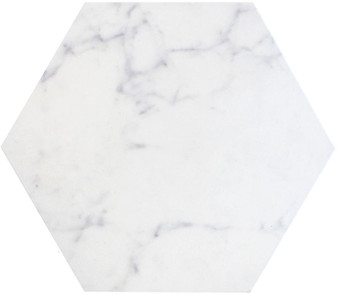 Di Cava Carrara 14x16 Hexagon Tiles