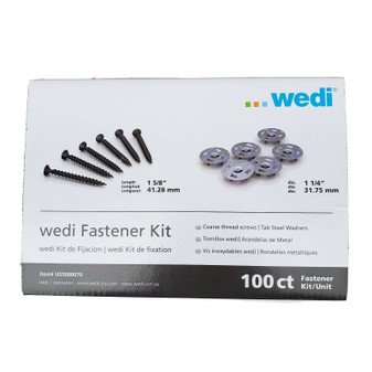 "Wedi ""FASTENER KIT SCREW WASHER TAB   WEDUS5000070 100 CT"""