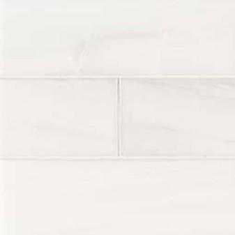 "Bianco Dolomite Polished 4""x12"" Tiles"