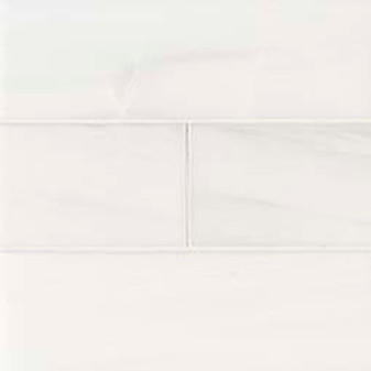 "Bianco Dolomite Polished 4""x12"" Tiles"
