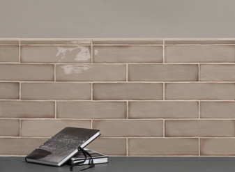 "Harlequin Taupe 3""x12"" Ceramic Wall Tiles"