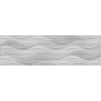 "Summer BREEZE GREY DECO 11.7""x39.2"" Ceramic Wall Tiles"