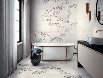 "Kasai Porcelain Tile Collection:CARTA SAKURA 9.8""x59"""