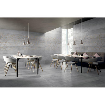 "Kasai Porcelain Tile Collection: FUMO KINTSU 9.8""x59"""