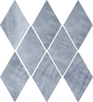 """DENIM 5,5""""x9,5"""" Washed Blue Diamond Tiles (Different colour shades randomly mixed within the box)"""