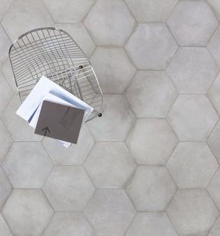Castello Grigio 12x24, 3x12 Bullnose, 4x12, 16x14 Hexagon Tiles, 2x2 Matching Mosaics