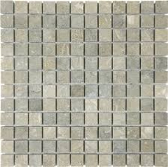 "Verde Rustico Honed 1x1 Square Mosaics on 12""x12"" Only $10.99 Sq. Ft!"