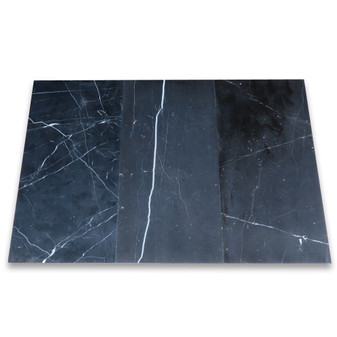 Nero Marquina Black Marble 12x24 Tile Polished