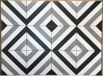 Stencil Collection Spice 8x8 Encaustic Tiles