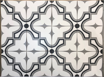 Stencil Collection Market 8x8 Encaustic Tiles