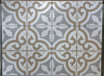 Stencil Collection Fond 8x8 Encaustic Tiles