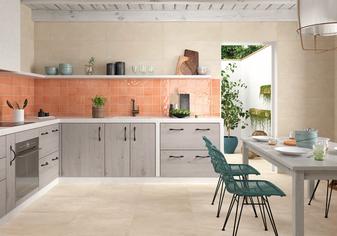 "Mediterranea Coral Gloss 5""x5"" Ceramic Wall Tiles"
