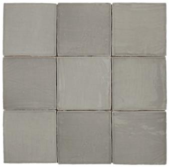"Mediterranea Gris Gloss  5""x5"" Ceramic Wall Tile"