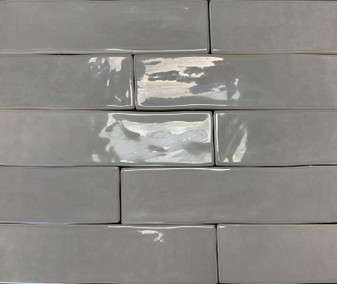 "MARRAKESH COLLECTION MARRENGO GLOSS 3""X12"" HANDMADE SUBWAY TILE, 1/2""X12"" JOLLY STICK LINER"