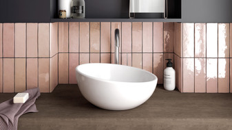 "Studio Rose Gloss 2.5""x8"" Wall Tiles"