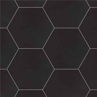 "Chromatic Black 8""x9"" Hexagon Tiles"