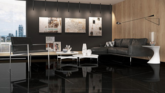 Imagine Stone Nero Marquina Polished 24″x48″ Rectified Floor