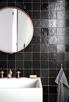 Mallorca Black 4x4 Matte Ceramic Wall Tiles