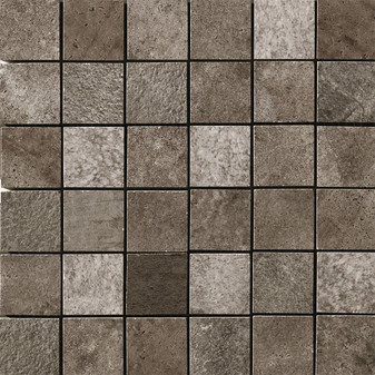 "Queen Stone Corris 2x2 Square Mosaics on 12""x12"" Mesh"