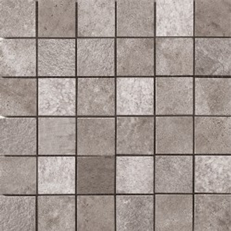 "Queen Stone Silver  2""x2"" Square Mosaics on 12""x12"" Mesh"