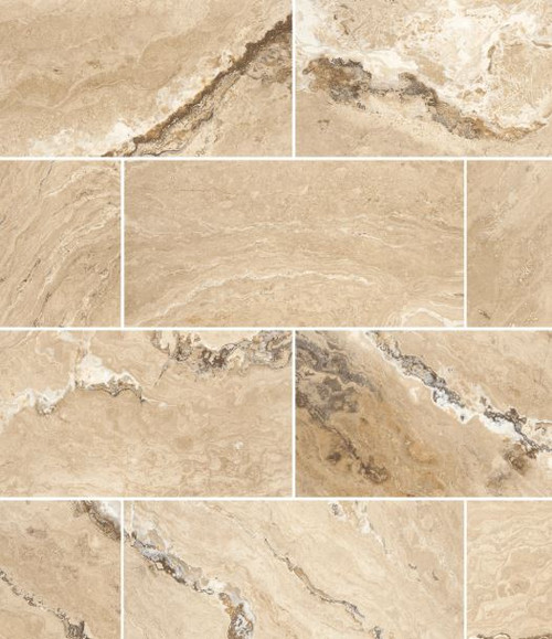 Luna Honed & Filled 12x24 Travertine Tile