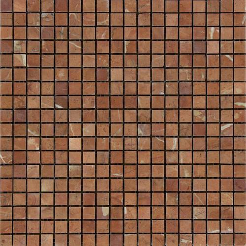Rojo Alicante Polished 5/8x5/8 Marble Mosaics
