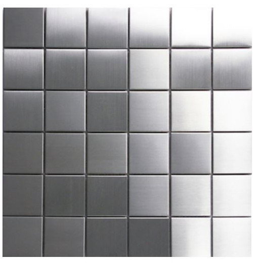 "Stainless Steel 2""X2"" Square Mosaics"