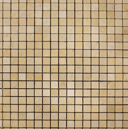 Jerusalem Gold 5/8x5/8 Tumbled Mosaic