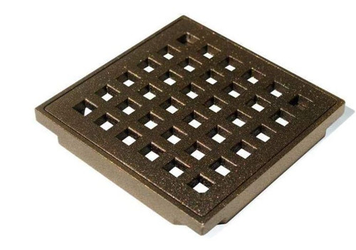 Wedi Fundo - Square Oil Rubbed Bronze Grate Cover (4 in)