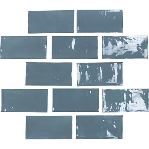 "Switch 2½"" x 5″ Wall Tile – Dark Blue Gloss Ceramic Wall Tiles"