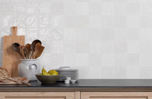 "Trinity White Gloss 4""x4"" Ceramic Wall Tiles"